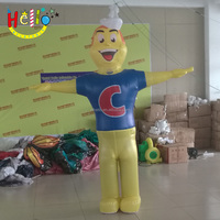Hot sale inflatable mascot fish character costume