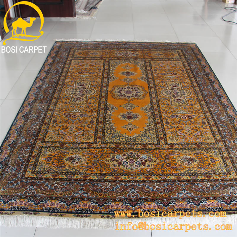 6x9ft yellow fashion handmade silk carpet rug lowes carpet prices popular silk rugs and carpets handmade silk