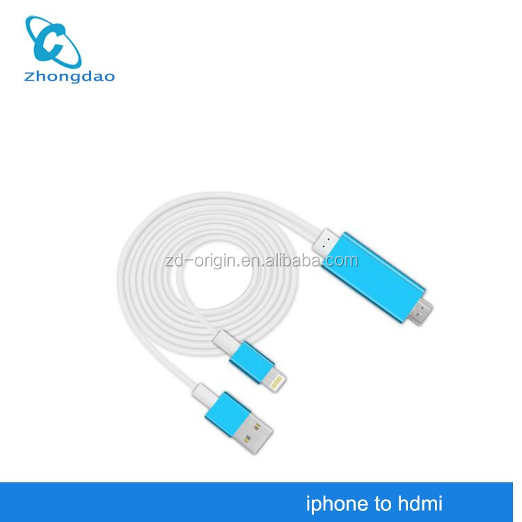 HDMI HDTV TV Adapter USB Cable 1080P for Apple Air Air2 iPhone 5 5S 5SE 6 6S 6PLUS 6S PLUS 7 7plus Ipad HDMI Cable