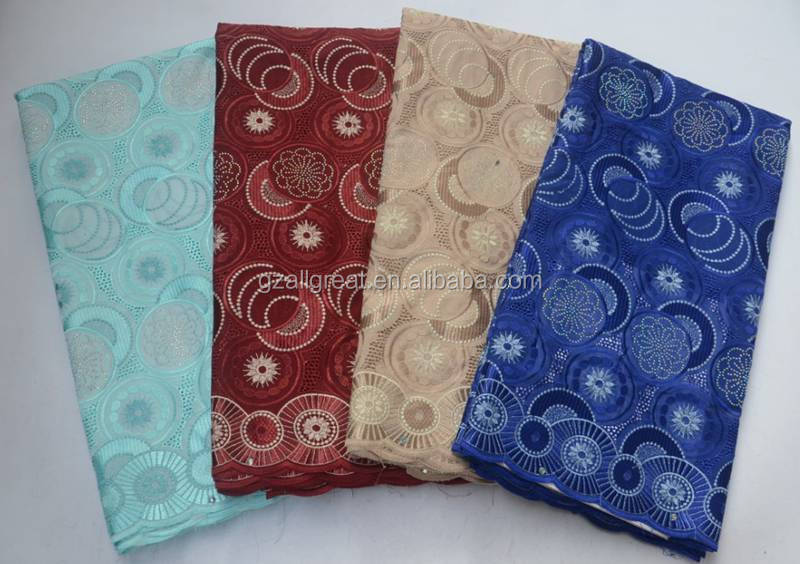 AG7199  New Arrival Swiss Lace Fabric For Wedding Fashion Cotton Lace African Fabrics