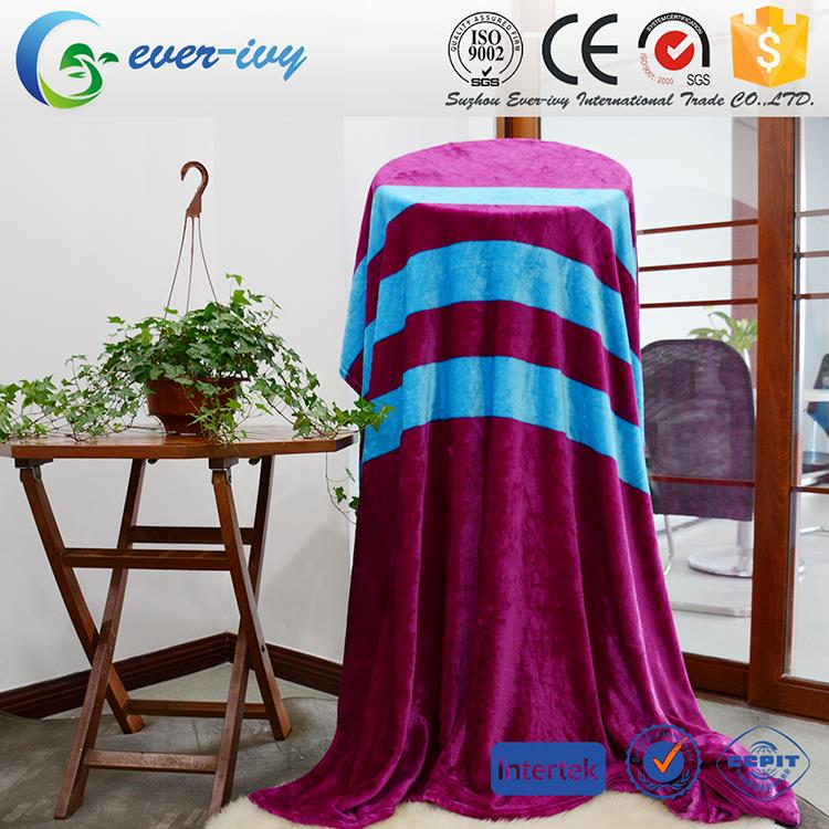 Multifunctional king size flannel personalized blankets with low price ever ivy