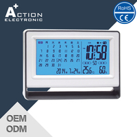2016 Cost Effective modern Designs Led Weather Clock