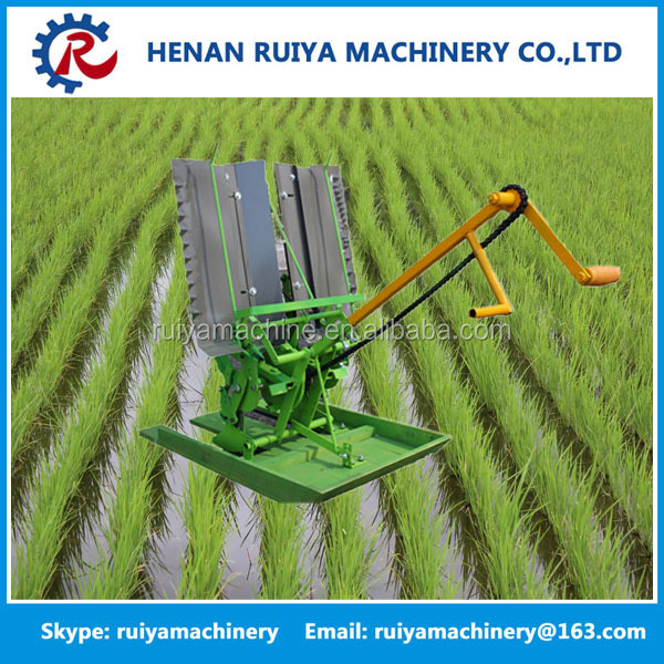 2 rows mini manual rice transplanter / 2 rows paddy rice transplant