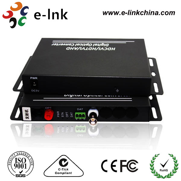 1 Channle Digital Optical Transmission Support Both AHD and HD-CVI Video Converter