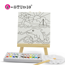 istudio kids cnvas painting coloring art and crafts kit