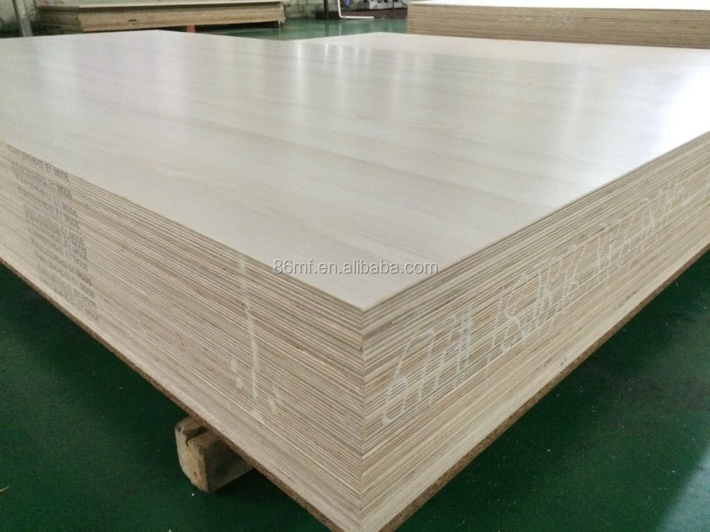 Hot sale cherry melamine paper laminated particle board for Particle board laminate finish
