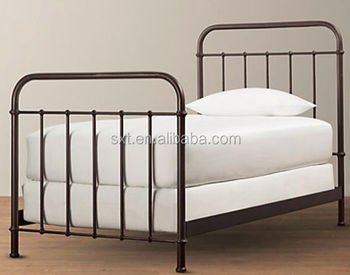 antique wrought metal bed single bed in iron