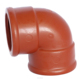 ZheJiang BS Standard Plastic Thread Pipe Fitting Brown PP Female Elbow Wholesale