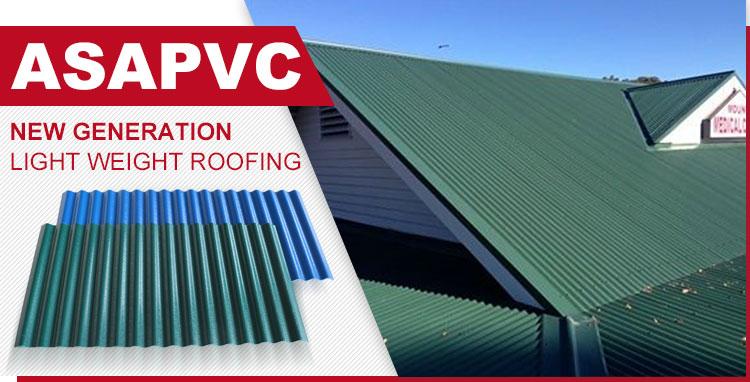 Resistenza agli agenti atmosferici ASA PVC stile spagnolo coperture foglio di resina sintetica
