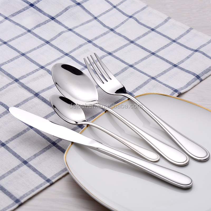 High-quality Western cutlery flatware sets dinner fork and spoon Stainess steel 18/0