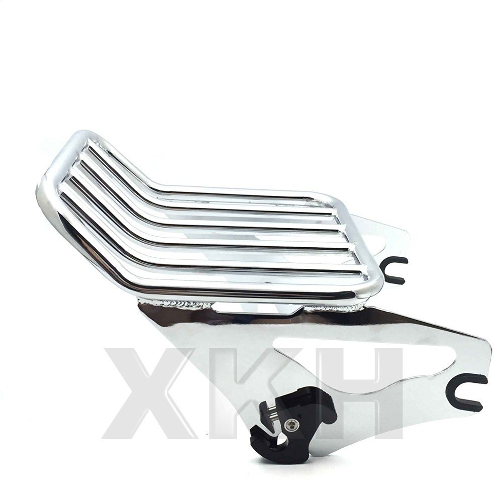 XKH- Motorcycle Chrome H-D Detachables Two-Up Luggage Rack For 09-later Touring models (i.e Road King FLHR/ Road Glide FLTRX)