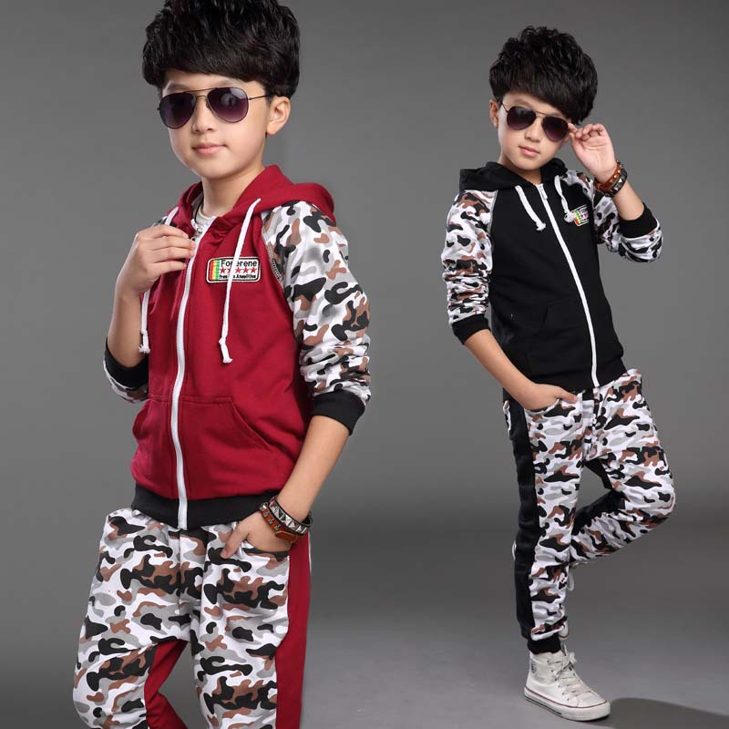 6 14 years kids clothes boys sets fashion sport outfit. Black Bedroom Furniture Sets. Home Design Ideas