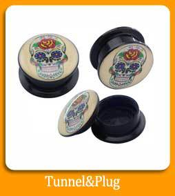 Natural stone heart shaped ear tunnel plugs for sale