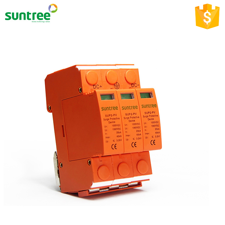 Suntree Manufacturer 2P 500V PV Surge Protection Device,DC SPD with TUV CE Certificate