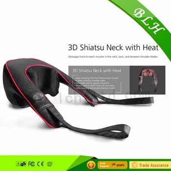 Silicon Shiatsu kneading neck 3D shoulder massager With Heating function home office car use