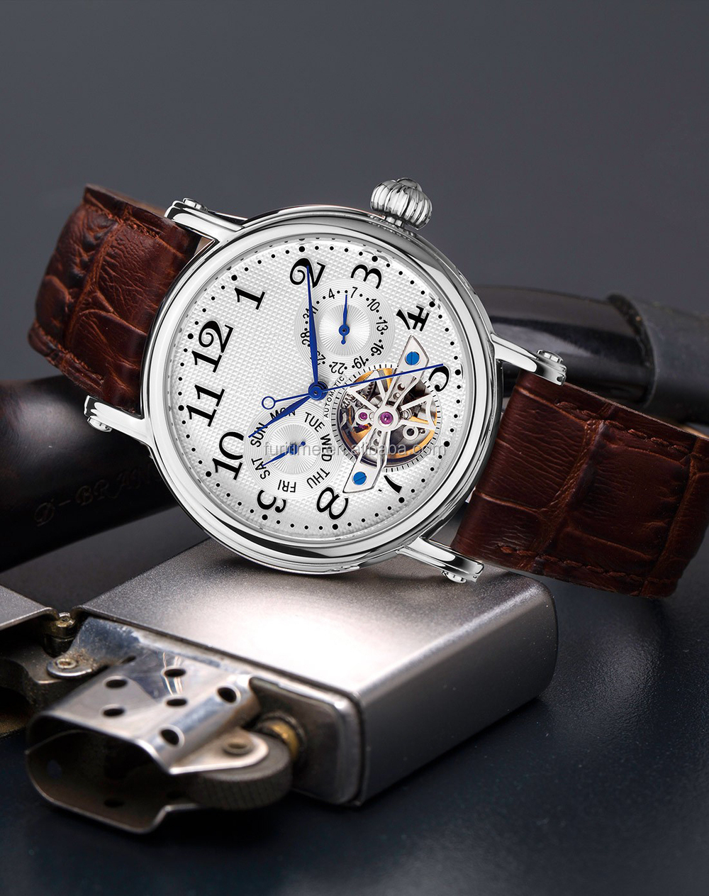 new hot sell Seagull movement with flying wheel automatic watches men watch made in china