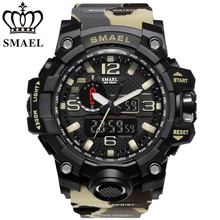 <span class=keywords><strong>Camouflage</strong></span> SMAEL 1545MC <span class=keywords><strong>Horloge</strong></span> Mannen Nieuwe Stijl Digitale Waterdichte Sport Militaire Horloges mannen Shock Analoge Dual Display <span class=keywords><strong>horloge</strong></span>
