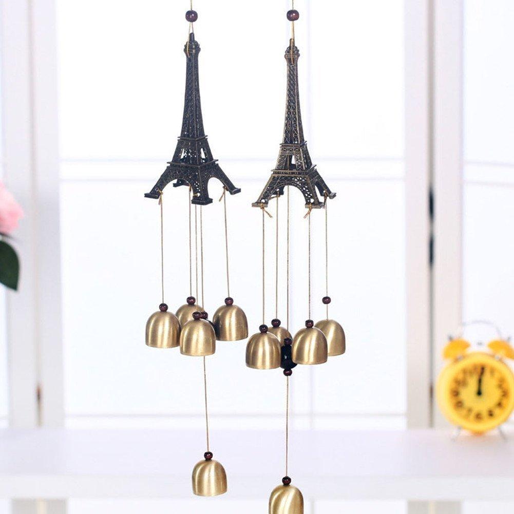 Buy MagicW Vintage Paris Eiffel Tower Decorations Bells Wind Chime ...