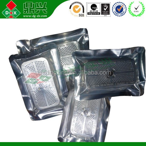 Silicon dioxide desiccant bags with do not eat writings