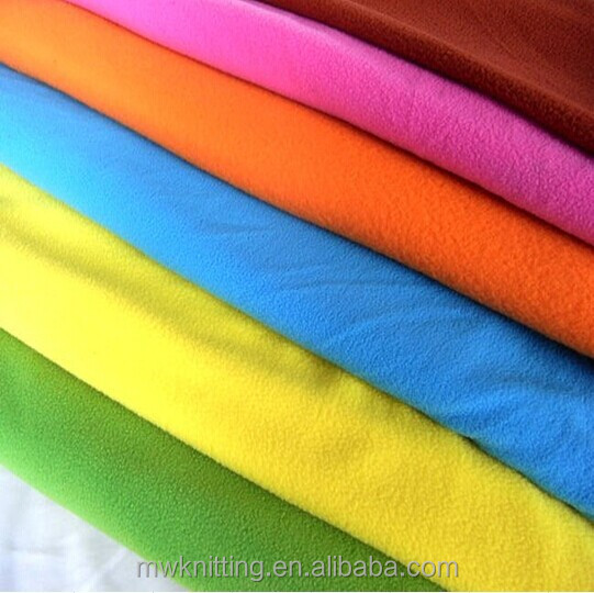 Calidad Anti Pil Polar Fleece Material De Tela-Fluorescente Amarillo
