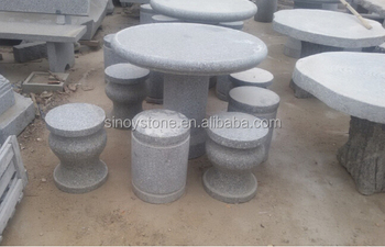 Outstanding Garden Granite Stone Round Table Benches Various Style Buy Stone Round Table Benches Outdoor Stone Tables And Benches Cheap Stone Bench Product On Gmtry Best Dining Table And Chair Ideas Images Gmtryco