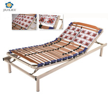 Ukuran tunggal kayu slat manual adjustable bed