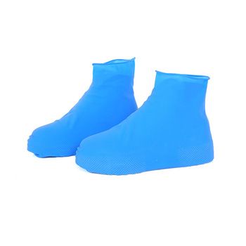 Latex Waterproof Rainproof Shoe Covers Outdoor Travel Rainy Days Thicken Student Children Shoes Cover