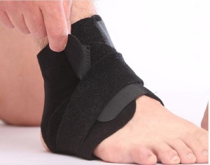 Sport bandage adjustable neoprene ankle brace ankle support wraps for football