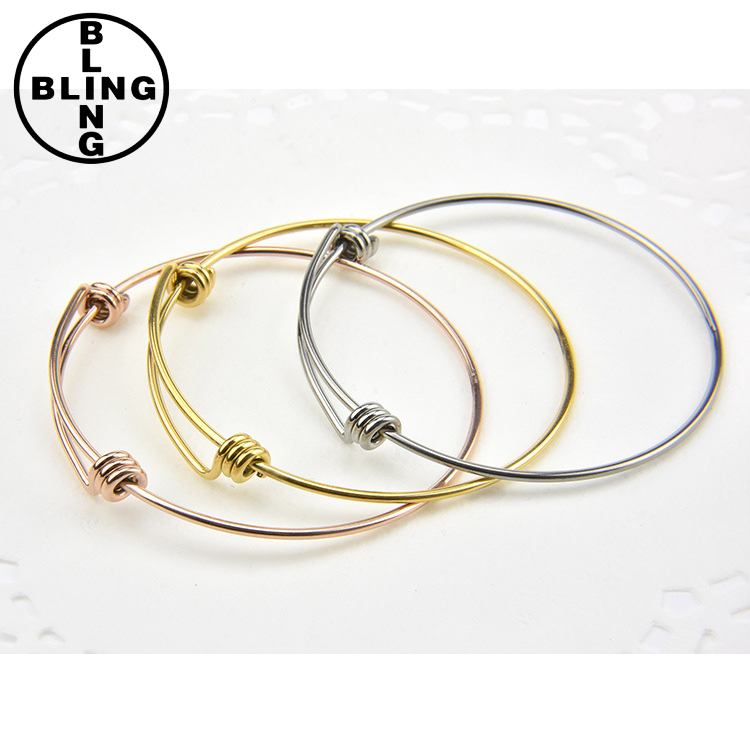 >>>2017 fashion jewelry wholesale alibaba high polish stainless steel Expandable Wire bangle adjustable coil bracelet