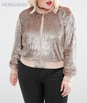 Plus Size Women Clothing Gold Sequin Bomber Jacket Hsj2355 Buy Ropa De Talla Grande Para Mujer Chaqueta Bomber Con Lentejuelas Para Mujer Cazadora Con Lentejuelas Product On Alibaba Com