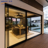Sliding glass door with electric blinds and lift and slide door