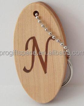 Hot vendas de moda de nova China produto atacado chaveiro de madeira oval  disco tag charme c7295a65d3