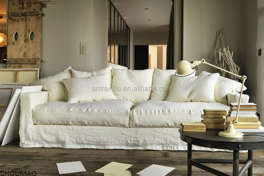 Genial 06. The China Manufacturer Elegant Natural Linen Sofa Cover Could Be ...
