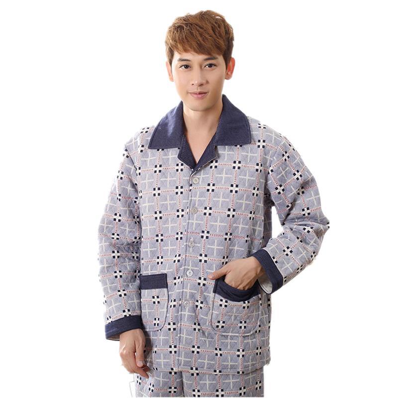 8d891b136a8 Get Quotations · 2015 New Winter Warm Classical Plaid Pattern Pajama Pants  Cotton Pajamas Set Sleepwear Men Pajama Cheap