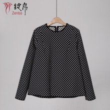 Dotes jacquard blouse for lady long sleeves Italian quality