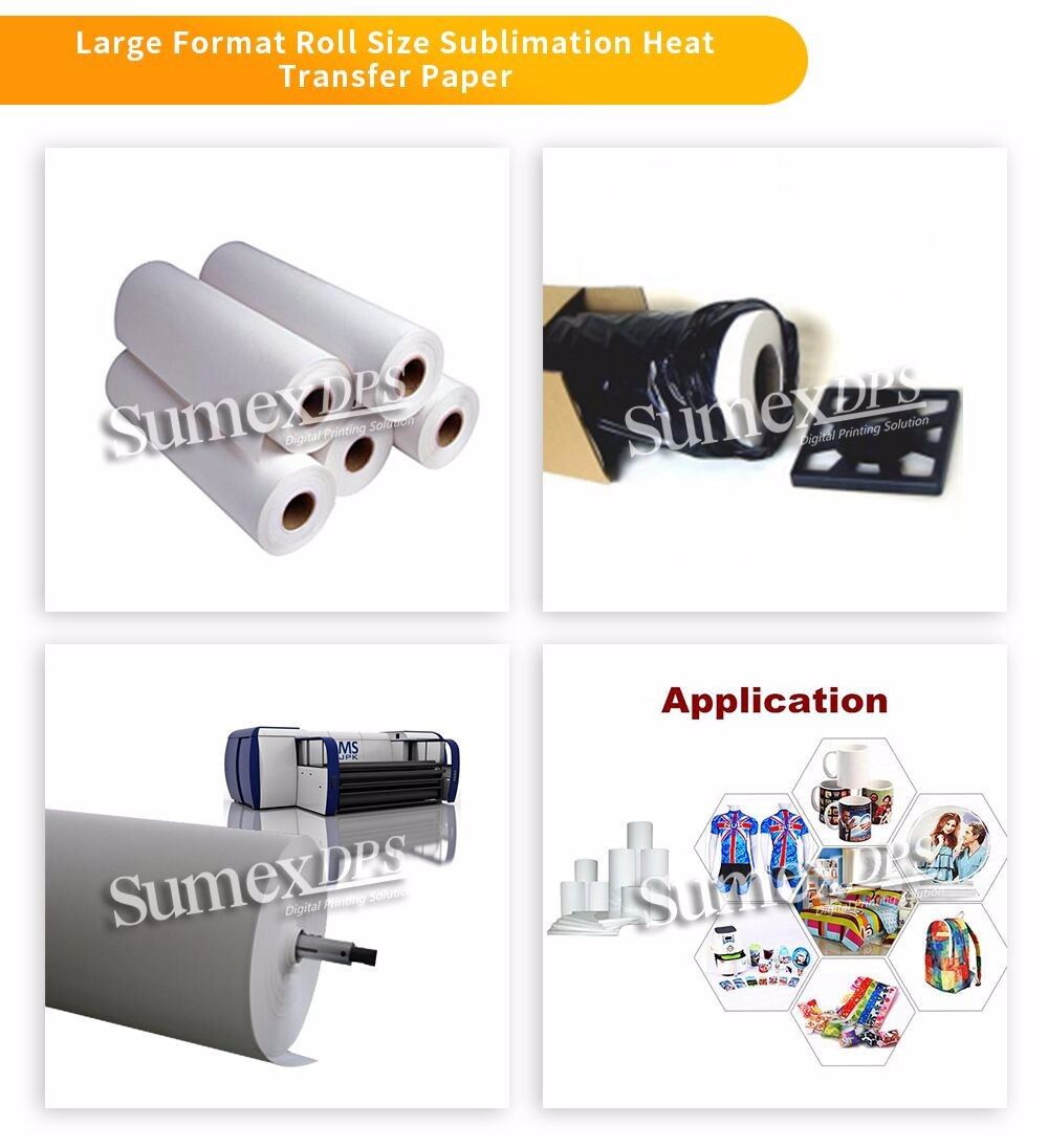Fast Dry Low Cost 60g sublimation paper roll mini jumbo roll for Textile  Clothing Polyester Fabric, View 100 sublimation, Sumexdps/OEM Product  Details