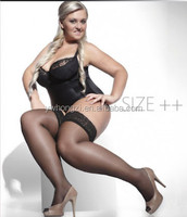 Plus Size 15D Sheer Lace Top Stockings Hold ups Sizes XL to XXXXL