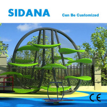 Kids indoor climbing tree playground with safety rope net