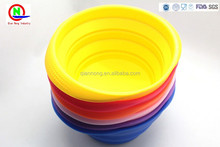 Collapsible Compact Silicone Pet Bowl Silicone Dog Cat Travel Dish Silicone bowl