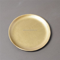 Factory price material PU leather and plastic Dish wood tray for tea serving