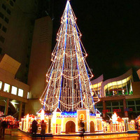 giant outdoor commercial lighted led walmart christmas tree