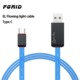 Factory price EL LED android charging cable usb data charging cable for android phones