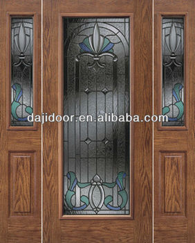 Full Lite Glass Fancy Wood Doors For House Entry Dj