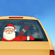 Christmas Santa Claus Waving Wiper Stickers PVC Rear Window Wiper Decals Windshield Stickers Car Stickers