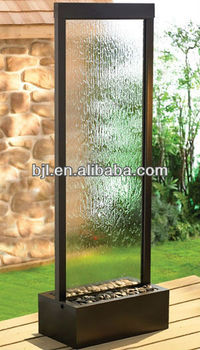 Decorative Floor Standing Waterfall Water Wall Glass
