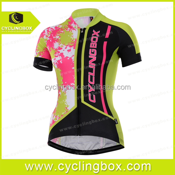 Cyclingbox 2016 women cycling shirts for men race riding shirt silicon elastic stretch hem band summer bike jersey