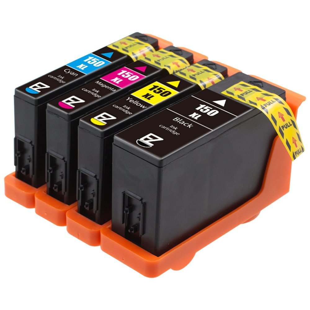 E-Z Ink (TM) Compatible Ink Cartridge Replacement for Lexmark 150XL (1 Black, 1 Cyan, 1 Magenta, 1 Yellow) 4 Pack Compatible With All-In-One Pro715 Pro915 S Series S315 S415 S515