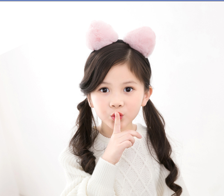Plush Cute Children Animal Cat Ears Hairband For Kids Wholesale