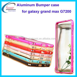 detailed pictures 4a319 ba908 For Samsung galaxy grand max G7200 bumper case ,Aluminum frame bumper  holder for Samsung galaxy max G7200