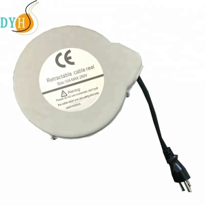 Iron board series 5M spring loaded extension power cord small retractable cable reel